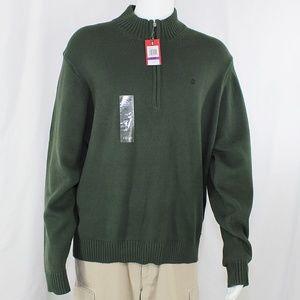 NWT Izod Green Zip Pullover Sweater XXL Men's